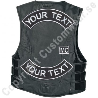 mc biker back patch vest