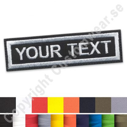 Embroidered front name patch