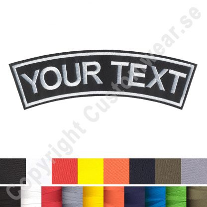 top rocker text patch