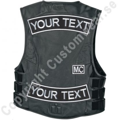 biker vest with embroidered patches